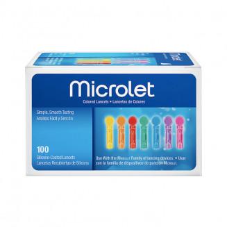 Microlet σκαρφιστήρες μέτρησης σακχάρου πολύχρωμοι - Ascensia